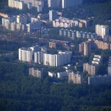 Moscow view from aircraft