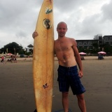 Surfing on Bali